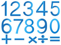 Numbers and symbols of mathematics. Royalty Free Stock Image