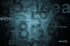 Numbers technology background. In blue color Royalty Free Stock Image