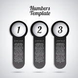 Numbers template Royalty Free Stock Images