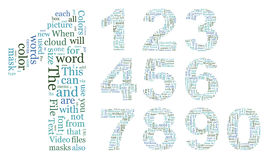Numbers text. Numbers consisting of the grouped text. EPS-10 Stock Images