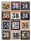 Numbers Thirty-eight Stock Photos