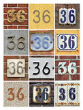 Numbers Thirty-six Stock Photos
