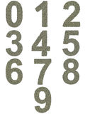 Numbers from 0 to 9 made of old and dirty Stock Photography