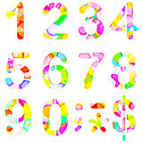 Numbers 0 to 9. Royalty Free Stock Photo