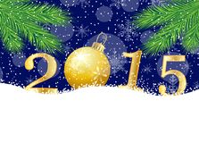 Numbers 2015 on to snow Royalty Free Stock Image