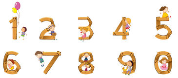 Numbers to ten Stock Images