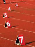 Numbers on the track. Numbers on the race track Royalty Free Stock Images