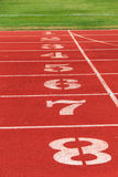 Numbers on the track Stock Images