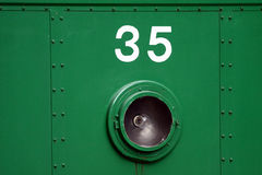 Numbers on the train Stock Photo