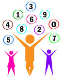 Numbers tree. Simple illustration of numbers tree Royalty Free Stock Photography