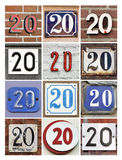 Numbers Twenty Stock Photo