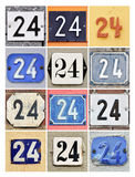 Numbers Twenty-four Stock Images