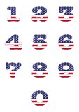 Numbers USA . Royalty Free Stock Photos
