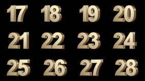 0-100 numbers Royalty Free Stock Image