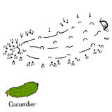 Numbers vector game: fruits and vegetables (cucumber) Royalty Free Stock Photography
