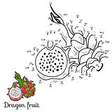 Numbers vector game: fruits and vegetables (dragon fruit) Royalty Free Stock Photography
