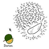 Numbers vector game: fruits and vegetables (durian) Royalty Free Stock Photos