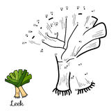 Numbers vector game: fruits and vegetables (leek) royalty free illustration