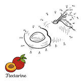Numbers vector game: fruits and vegetables (nectarine) Royalty Free Stock Photo