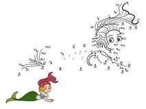 Numbers vector game (mermaids) Stock Images