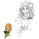 Numbers vector game (mermaids) Stock Image
