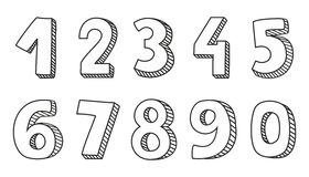 Numbers vector  on white background Stock Photography