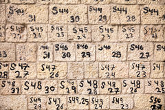Numbers On The Wall Royalty Free Stock Image