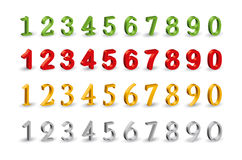 Numbers web 3D icons. Stock Image