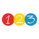 Numbers 123. On white background Royalty Free Stock Photo