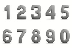 Numbers on white background Stock Photo