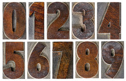 Numbers in wood type Stock Photography
