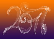 2017 numbers written with white smoke or flame light on colorful background.  vector illustration