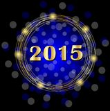 Numbers 2015 year on a dark blue festive background. Vector  illustration Royalty Free Stock Photo