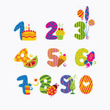 Numbers from zero to nine Royalty Free Stock Photo
