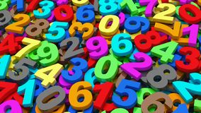 Numbers. from zero to nine. stock video footage