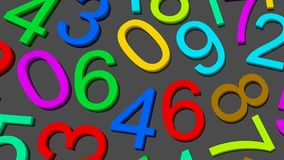 Numbers. from zero to nine. stock footage