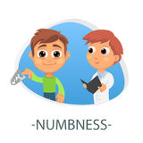 Numbness medical concept. Vector illustration. Stock Photo