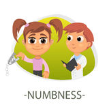 Numbness medical concept. Vector illustration. Stock Image