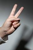 Numer dwa - ręka Zdjęcie Stock