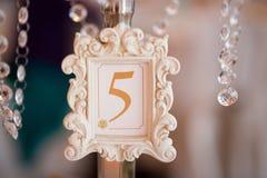 Numeração da tabela do casamento Imagem de Stock Royalty Free