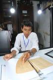 Numeração de manuscritos antigos foto de stock