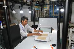 Numeração de manuscritos antigos fotografia de stock