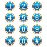 Numera ícones Imagens de Stock