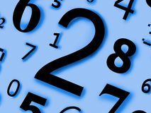 Numera caráteres dos dígitos figuras Fotos de Stock Royalty Free