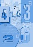 Numera caráteres no fundo do volume Imagem de Stock Royalty Free