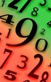 Numera caráteres dos dígitos figuras cor do fundo Fotografia de Stock Royalty Free