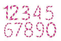Numera doces Bastão do alfabeto do Natal Isolado no fundo branco Vetor ilustração do vetor