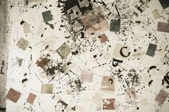 Numera i &letters Fotografia Stock Libera da Diritti