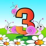 Numera il serie per i bambini - #03 Fotografia Stock