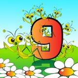 Numera il serie per i bambini - #09 Fotografia Stock Libera da Diritti